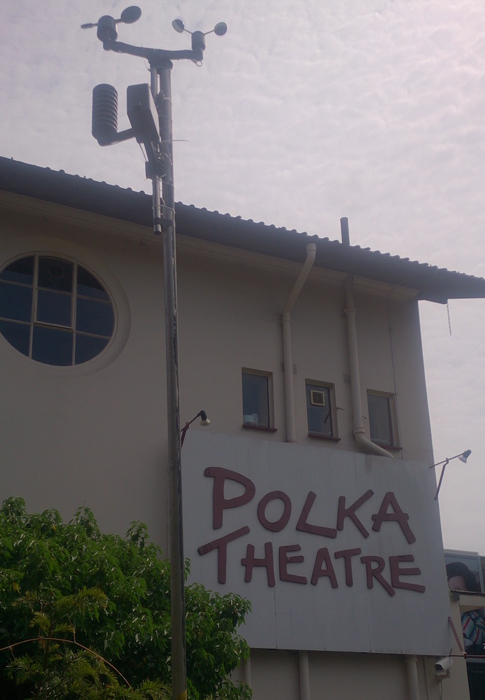 weather station in Polka Theatre's garden